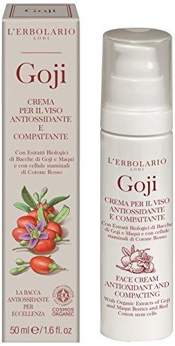 El antioxidante Erbolario Goji Crema de cara y compactas 50 ml