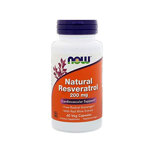 Natural Resveratrol 200mg (60 vcaps) Now Foods