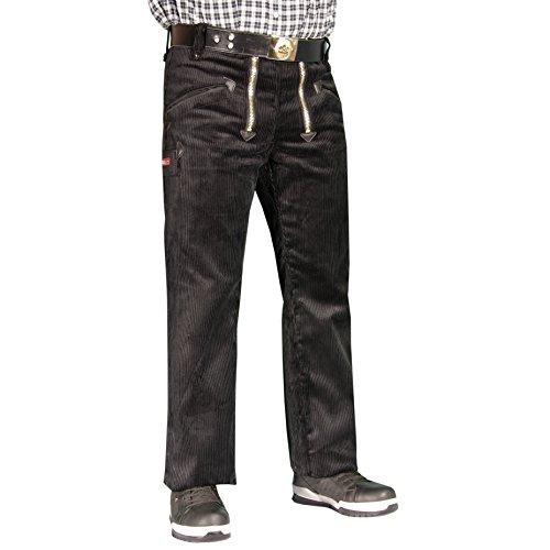 OYSTER TrenkerCord Zunft-Hose Arbeits-Hose - 50255 - breite Rippe - schwarz - Größe: 25