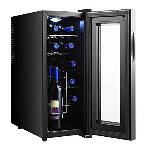 116L Vinotecas,Enfriador De Vino Electrico Independiente Refrigerador con Silent Operación Temperatura Regulable...