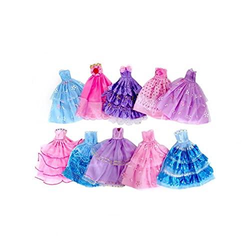 Ohomr 10 Piezas Hechas a Mano Fiesta de la Boda de la Novedad del Vestido Vestidos muñeca (Color al Azar/Estilo)