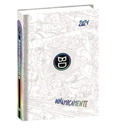 DIARIO SCUOLA Bastardidentro Bastardi Dentro Edizione Limitata Speciale Bianco Multicolor Dinamicamente Pocket 2020-2021 16x11cm + Omaggio portachiave Fischietto