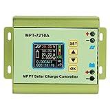 Controlador De Carga Solar Mppt 24V / 36V / 48V / 60V / 72V Regulador De Carga Del Panel Solar con Pantalla LCD, Entrada Dc12-60V Regulador Solar para BateríA De Litio