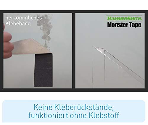 Mediashop Hammersmith Monster Tape, Nano-Grip-Technologie - Mikroskopisch kleine Saugnäpfe Sorgen für monsterstarken Halt, wiederverwendbar, Wasser- und wetterfest, funktioniert ohne Klebstoff - 5