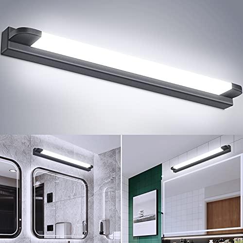 Kambo Lámpara LED de Espejo Baño 7W 42CM, IP44 Aplique de Baño Espejo LED Blanco Frio 6000K 630LM, Luz de Espejo de Baño Moderno LED Espejo Baño Iluminación para Maquillaje