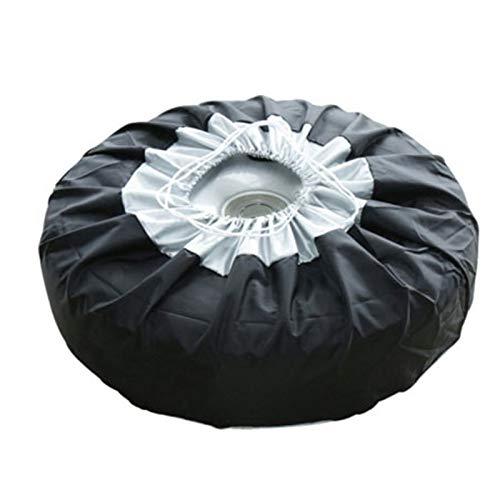 NSGJUYT Caja de la Cubierta de neumáticos de 2 Piezas Cubierta de neumáticos de Recambio de automóvil Bolsas de Almacenamiento Lleve Tote Tire para los Autos Protección de Ruedas Cubiertas