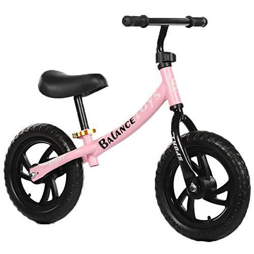 BSWL 12 Pulgadas/Bicicleta De No Pedal para Niños, Adecuado para Niños De 2 A 6 Años, Entrenamiento De Caminatas Bicicleta De Balance Competitivo En Bicicleta,Rosado