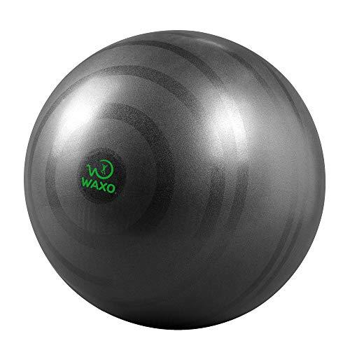 Waxo - Palla Fitness Anti-Scoppio 65 cm - Ebook Esercizi Incluso - Yoga Pilates Gravidanza Addominali - Allenamento Ufficio Casa Palestra - Pompa Inclusa