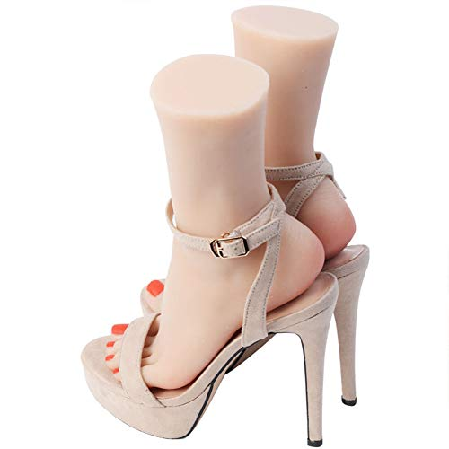 YUXINCAI Dummy Dress Forms Damen Schaufensterpuppe Aus Silikon – Das Schöne Fuß Modell Simuliert EIN Weiblichen Füße Replik Silikon Fuß Modell Mit Touch Und Realer Vision