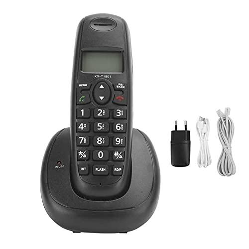 BTMING Téléphone sans Fil Accueil Téléphone Fixe Téléphone Fixe Téléphone Fixe avec Affichage d'identification de l'appelant pour Home Hôtel Office Bouquet EU 100-240V