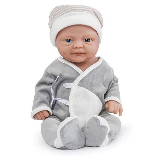 Vollence Realista Bebé Reborn de 36 cm. Libre de PVC. Muñeca bebé Realista con Cuerpo Completamente Lleno de Platino sólido. Muñeca bebé Natural Hecha a Mano con Ropa - Chico