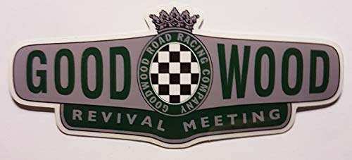 Goodwood Revival Vinyl Sticker suitable for indoor or outdoor use.
