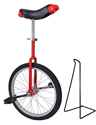 Funsport Einstellbares Einrad 18' Zoll Mit Ständer Rot