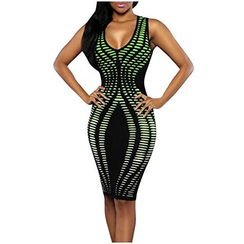 Youdong Femme Chemisier Maxi Robe de Cocktail en Coton Imprimé Col V Fashion Casual Élégante Chemise Automne Floral Top Chic Blouse Tops Loose sans Manches Impression 3D