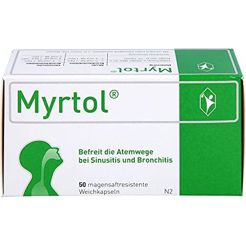 Myrtol Weichkapseln befreit die Atemwege bei Sinusitis und Bronchitis, 50 St. Kapseln
