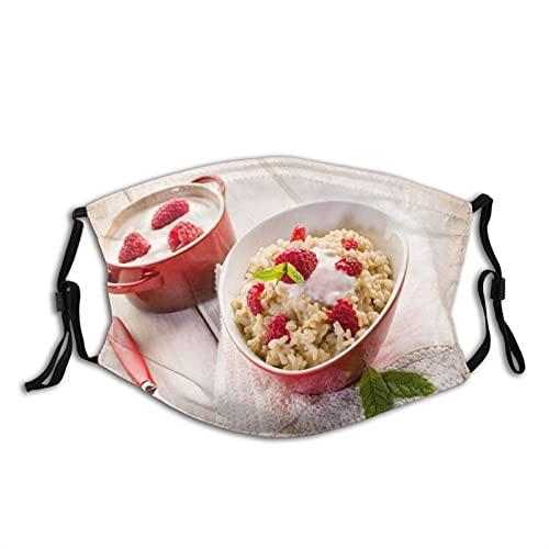 Máscara facial cómoda de gachas crema frambuesa desayuno a prueba de sol moda Bandana Headwear para la pesca