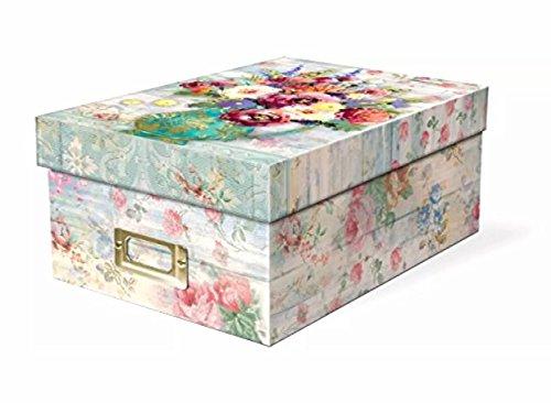 Punch Studio Fresh Flowers Photo Memory Storage Box