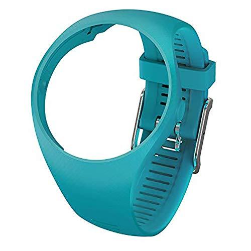LNIMIKIY Correa de muñeca Smart Watch Accesorios de Repuesto con Hebilla Banda Running Caso Pulsera de Silicona Suave portátil Universal Deporte Moda para Polar M200, Color Verde Azulado