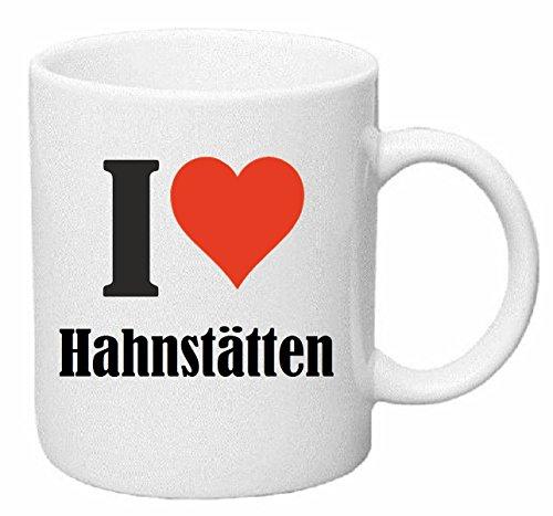 Reifen-Markt Kaffeetasse I Love Hahnstätten Keramik Höhe 9,5cm ⌀ 8cm in Weiß