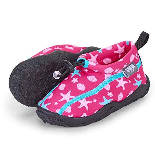 Sterntaler Baby - Mädchen Aqua-Schuhe mit Gummizug und rutschfester Sohle, Farbe: Magenta, Größe: 21/22, Alter: 18-24 Monate, Art.-Nr.: 2512104
