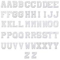 52枚アルファベットA-Z刺繍ワッペンアイロン接着入園入学マーク幼稚園保育園小学校アップリケかわいい男の子女の子ワッペン白 2セット