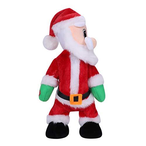 Natale Babbo Natale bambola scuotendo i fianchi Babbo Natale cantare e ballare giocattoli di Natale elettrico bambole di Babbo Natale per i bambini casa festival festa decorazione regalo