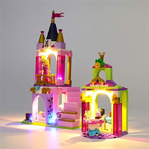 HLEZ Conjunto de Luces Lluminación para Celebración Real de Disney Aurora, Ariel y Tiana Modelo de Bloques de Construcción, Kit de luz LED Compatible con Lego 41162 (NO Incluido en el Modelo)