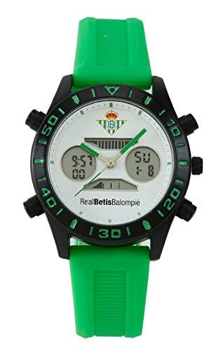 Real Betis Reloj Analógico-Digital para Unisex-Adulto de Automático con Correa en Cuero sintético 68597