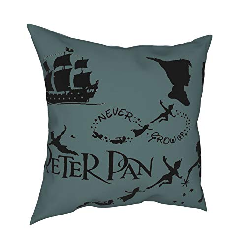 Peter Pan Never Grow Up Abstract Art Artwork Pillow Cover, Gallery Modern Decorative Throw Pillows Cushion Cover for Bedroom Sofa Decorative Throw Pillows Cushion Cover for Bedroom Sofa Living Room