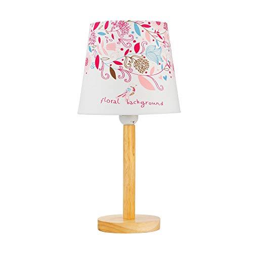 Pauleen Tischleuchte 48045 sobremesa Cute Flower Lamp máx. 20W, E27, Lámpara Infantil Flores, Rosa, Tela/Madera, Sin Bombilla, Blanco, de colores