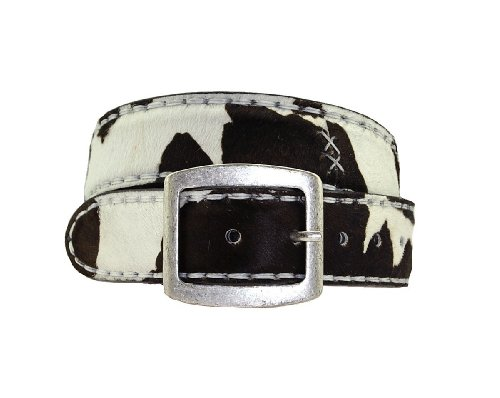 Sendra ceinture cinturon pelo patte-de-vache inscription personnaliseable - 881–blanc/noir - Blanc - 105