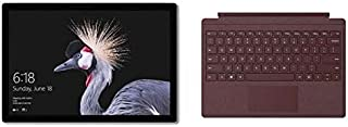 Microsoft Surface Pro 5, 2-in-1 Laptop, Intel Core-i7, 12.3 Inch, 512GB SSD, 16GB RAM, Intel® HD Graphics 615, Windows 10 Pro, Silver with Burgundy Type Cover [Middle East Version]