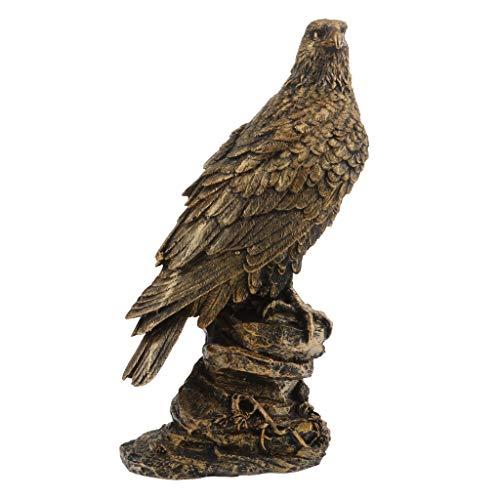 B Blesiya Falke Dekofigur Adler Greifvogel Gartenfigur - Bronze