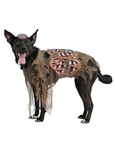 Zombie Hund Halloween Hunde Kostüm grau grün S