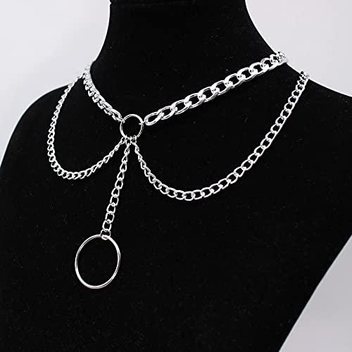 HQTUYEN Goth Streetwear Necklaces Grunge Cross Pendants Women Men Neck Chain Indie Jewelry On The Neck 2021 E Girl Choker Aesthetic Kpop (style 2)