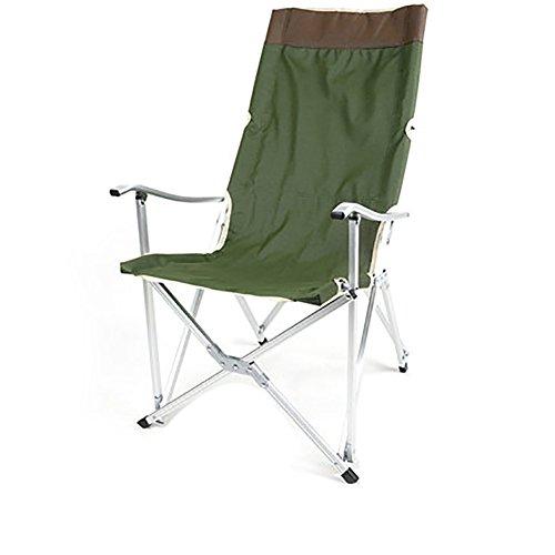 Be&xn Sillas de Camping plegables exteriores, Portátil Camping Barbecue Silla de Playa Silla de Pesca-Verde del ejército W59xH100cm(23x39inch)