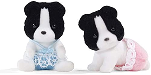 Calico Critters Border Collie Twins Set