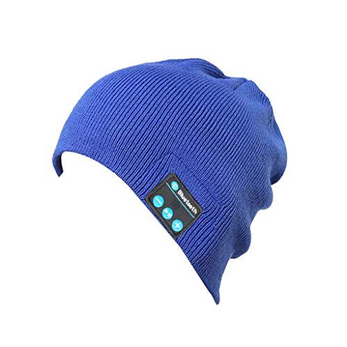 Berretto musicale Bluetooth, cappello lavorato a maglia bluetooth unisex con cuffie stereo e microfono vivavoce per iPhone Samsung Android e iPad cappello vintage cappello impermeabile uomo