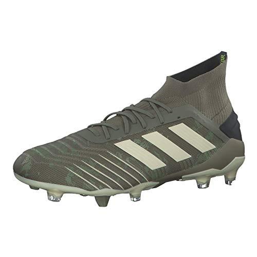 adidas Predator 19.1 Fg, Scarpe da Calcio Uomo, Verde (Legacy Green/Sand/Solar Yellow Legacy Green/Sand/Solar Yellow), 42 EU