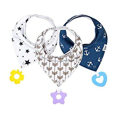 Baby Bandana Drool Bibs with Teether for Boys a...