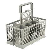 1 pièces universel lave-vaisselle couverts panier boîte de rangement cuisine aide pièce de rechange lave-vaisselle boîte de rangement (Gray)