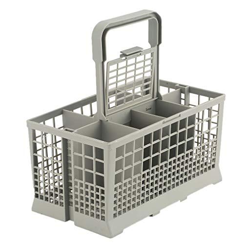1 cesta de almacenamiento universal para lavavajillas y cubiertos de cocina, ayudante, pieza de repuesto para lavavajillas y caja de almacenamiento (Gray).