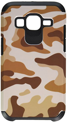 Asmyna Cell Phone Case for Samsung G360 (Prevail LTE)/Galaxy Core Prime - Retail Packaging - Black/Brown
