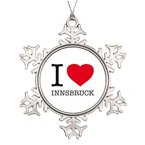 Yilooom Baumschmuck I 3 Innsbruck Schöne Schneeflocke Ornamente Skifahren