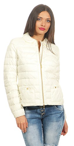 Geox Respora Daunenjacke Weiss Gr. 38 M Daunen Jacke White Jacket federleicht Woman Down
