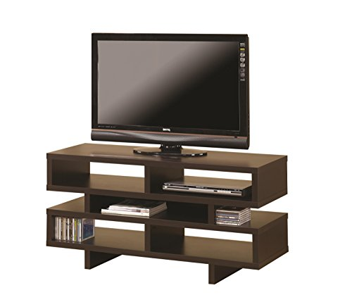 Coaster Home Furnishings TV Console with 5 Open Storage Compartments Cappuccino
