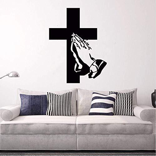 wandaufkleber art deco wandbild applique abnehmbare wasserdichte tapete Wandtattoo Jesus Followers Applaudieren Wandaufkleber Home Wohnzimmer Dekor Abnehmbare Vinyl Religion Wand Poster 42x55 Cm