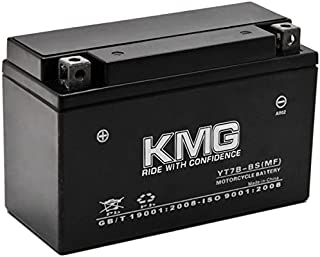 KMG Yamaha 450 YFZ450 2004-2009 YT7B-BS Sealed Maintenace Free Battery High Performance 12V SMF OEM Replacement Maintenance Free Powersport Motorcycle ATV Scooter Snowmobile KMG