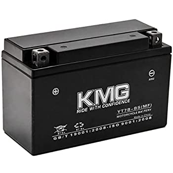 KMG Battery Compatible with Yamaha 450 YFZ450 2004-2009 YT7B-BS Sealed Maintenance Free Battery High Performance 12V SMF OEM Replacement Powersport Motorcycle ATV Scooter Snowmobile