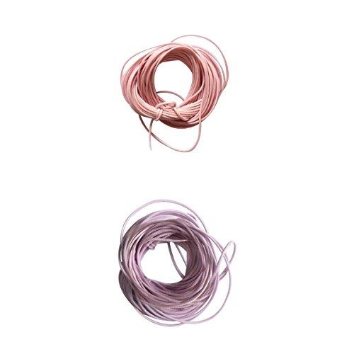 Bonarty Cordón de Hilo de Cera de Nailon Multicolor para Bricolaje Pulsera Collar Joyería Cordón Artes